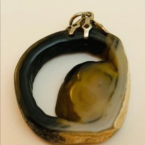 Vintage Carved Agate Pendant for Necklace